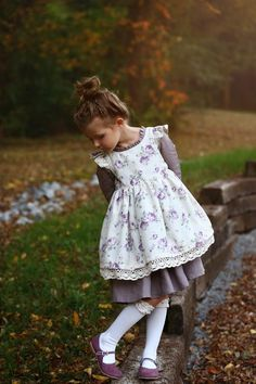 Pearl Pinafore & Dress – Violette Field Threads Baby Outfits, Kids Outfits, Little Girl Dresses, Girls Dresses, Vintage Baby Dresses, Baby Born Clothes, Children Clothes, Girls Pinafore Dress, Facon