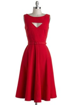 The Evening Unfolds Dress in Red, #ModCloth. This dress looks so flattering. i love the neck and i love the back even more.