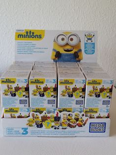 Say bello! to the Buildable Minions Blind Packs Series III by Mega Bloks Minions™! Now you can recreate your favorite Minion moments with Kevin, Stuart and Bob in outfits seen throughout the film! They each have their own special accessory and come in a blind pack, so you never know which one you will get. You can customize your Minions and mix and match clothing, goggles, accessories, even arms and feet!   Ideal f...or ages 5 and up