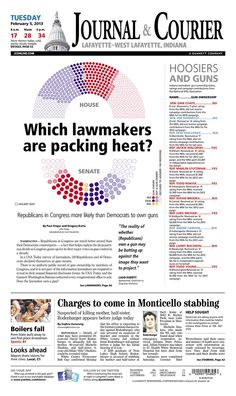 Another Gannett paper in Indiana offered this graphic of which Members of Congress own guns