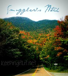 Smuggler's Notch, from the Stowe side. #vermont #foliage