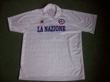 0d545e75d17 1989 1990 Fiorentina Roberto Baggio #10 Player Issue Away Football Shirt  Adults XL Top Maglia