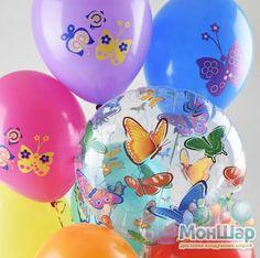 Воздушные шары с бабочками