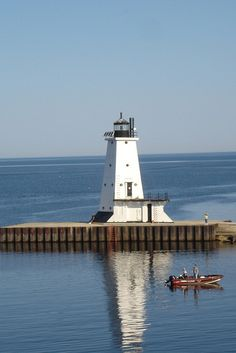 Lighthouse in Ludington, Michigan  by dawnhops, via Flickr