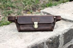 Fanny pack hand-made from genuine leather using only high-quality steel hardware. It has one big compartment and one pocket inside. Bags cap closes
