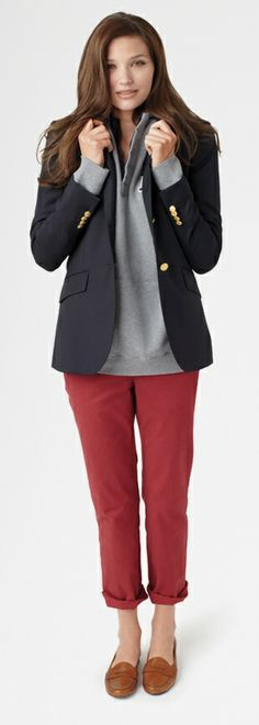 Brooks Brothers Iconic Navy Blazer - love those red pants! - Get $100 worth of Beauty Samples!