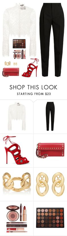 """Sin título #4729"" by mdmsb on Polyvore featuring moda, Nicholas, Yves Saint Laurent, Giuseppe Zanotti, Valentino, Goossens, Charlotte Tilbury y Morphe"
