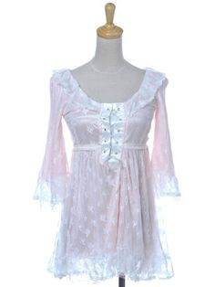 Anna-Kaci S/M Fit Pink Victorian Lace Up Ties White Lace Overlay Long Blouse Anna-Kaci. Save 39 Off!. $20.00