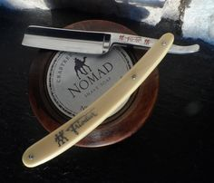 The Henckels Friodur is a great stainless-steel blade. This one had been used very little when I purchased it. I like the Crabtree & Evelyn soap--much cheaper than the Art of Shaving soaps and very close to them in quality.