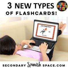 Love these new types of Spanish flashcards! Great for getting students to read, write, and listen in the target language. Free Spanish Lessons, Spanish Lesson Plans, Spanish Flashcards, Spanish Vocabulary, Teacher Lesson Plans, Free Lesson Plans, Spanish Teacher, Teaching Spanish, Middle School Spanish