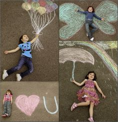 Cute sidewalk chalk art ideas