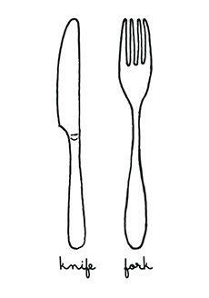 Knife & Fork Tattoo - Tattoonie #temporary #tattoo #cuttlery #knife #fork #tattoonie #t4aw #tattoos