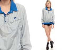 Nike Jacket 80s Windbreaker Jacket Nylon SHELL Jacket by ShopExile
