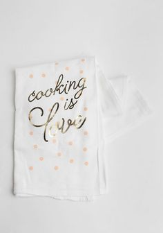 Cooking Is Love Tea Towel at #Ruche @Ruche