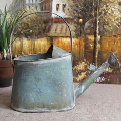 Watering can!!! Bebe'!!! Interesting shaped vintage watering can!!!