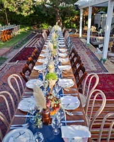 """See the """"The Reception"""" in our A Rustic and Whimsical Wedding at Home in California gallery"""