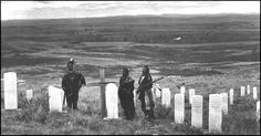 The graves at the Little Big Horn. Their are many reasons why Custer lost this battle. He was to sure of himself. He was totally out numbered. The warriors had quick repeating rifles and his troops didn't and because of his reputation he had no support even though he had sent for it. It has been said that he needed a victory to put him back in the public eye so he could fulfill his ambition to run for the Presidency.