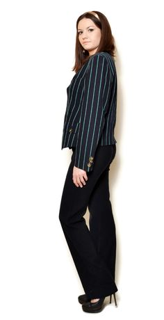 striped blazer outfit business  US$69.95