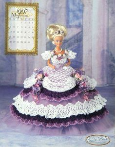 Annie Potters 1997 Ms.January Master Crochet Pattern Series The Royal Ball Gowns