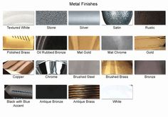 Access Metal Finishes