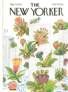 Joseph Low : Cover art for The New Yorker 2787 - 17 July 1978 The New Yorker, New Yorker Covers, Old Magazines, Vintage Magazines, Graphic Design Illustration, Illustration Art, Magazine Art, Magazine Covers, Beautiful Cover