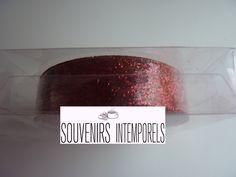 1 rouleau de glitter tape ruban adhésif non repositionnable à paillettes couleur rouge : Stickers, autocollants par souvenirs-intemporels
