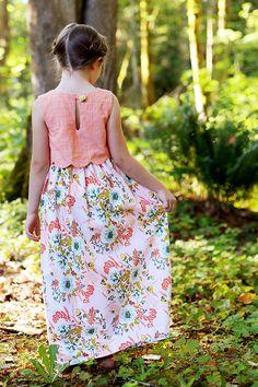 Sullivan Dress PDF Pattern - Sew Much Ado - Darling scalloped bodice and so many options!