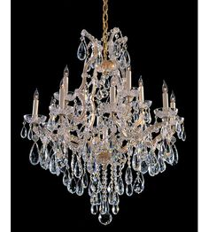 Crystorama Maria Theresa 13 Light Chandelier in Gold 4413-GD-CL-MWP #lightingnewyork #lny #lighting