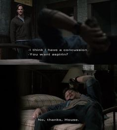 I love it when one of my favorite tv shows mocks my other favorite tv show :). Makes me feel like they're all connected somehow, haha Supernatural Fans, Supernatural Seasons, Haha, Winchester Boys, Winchester Brothers, Bobby Singer, Destiel, Johnlock, Jared Padalecki