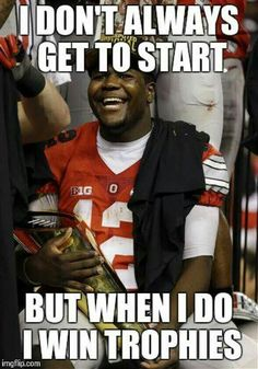 Cardale Jones #12.... 3rd string quarterback Ohio State Football National Champions ...