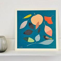 Affiche imprimée Cueillette - Illustration originale signée Mini labo
