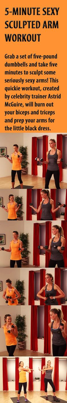 5 minute sculpted arm workout.