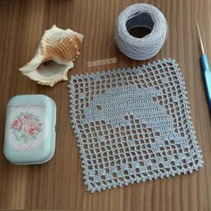 #yunus #myhandmade #kendimyaptigim #crochet #dantel #motif #tığişi #elişi #dolphin Crochet Doily Diagram, Filet Crochet Charts, Granny Square Crochet Pattern, Crochet Squares, Crochet Motif, Diy Crochet, Crochet Doilies, Crochet Stitches, Crochet Patterns