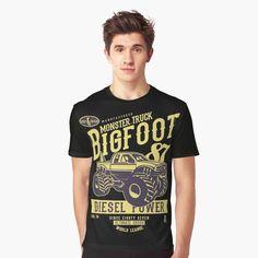 'Big Foot' Grafik T-Shirt von Lordstilgar Graphic T Shirts, Lord, Bigfoot, Diesel, Monster Trucks, Mens Tops, Fashion, Diesel Fuel, Moda