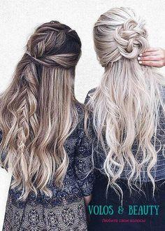 ❤ Две отличные прически с элеменами кос на каждый день ❤
