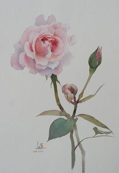 Мобильный LiveInternet Розовые Розы. Воздушная магия La Fe. Галерея   alona777 - Удивительный мир Росписи.  