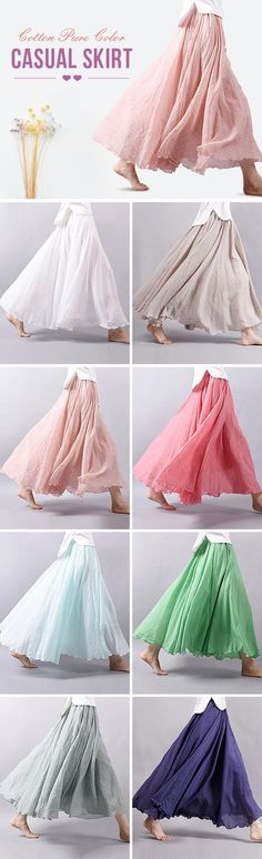 US$20.06 Must Have Skirts In Colors For This Summer