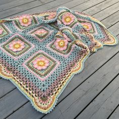 "FREE!!! BLANKET / AFGHAN · CROCHET SQUARE · FREE CROCHET PATTERN Pattern ""Song of the forest"" / Mönster ""Skogsvisa"""
