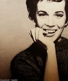Julie Andrews I want this huge on a wall in my house. Classy and grace at its finest.