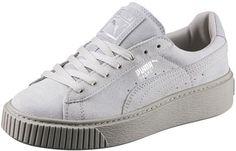 Puma Basket Platform Reset W schoenen grijs