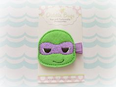 Ninja turtle hair clips!! Yes I bought these for my kid.