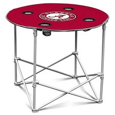 University of Alabama Round Collapsible Table with Cup Holder ** Be sure to check out this awesome product.(This is an Amazon affiliate link)