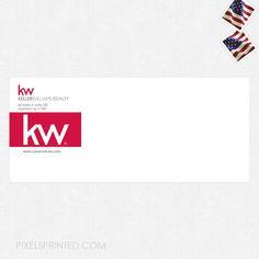 real estate envelopes, realtor envelopes, realtor window envelopes, envelopes, Keller Williams envelopes, KW envelopes