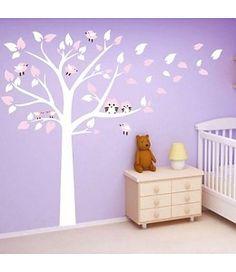 140890de626f46 Muurstickers babykamer of kinderkamer online kopen. Muursticker witte boom  ...
