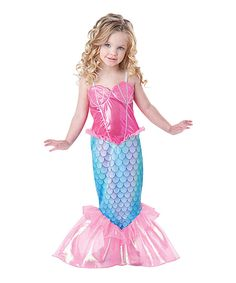 This InCharacter Costumes Pink & Turquoise Mermaid Dress-Up Outfit - Kids by InCharacter Costumes is perfect! #zulilyfinds