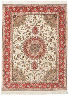 Tabriz 50 Raj silkillä-matto 155x210
