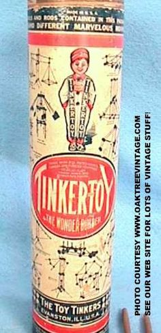 1915 Tinker Toy, invented in 1914