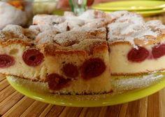 Meggyes piskóta (olajos piskótából)   Timcsi receptje - Cookpad receptek Yummy World, Sports Food, Thing 1, Hungarian Recipes, Waffles, French Toast, Cheesecake, Muffin, Food And Drink