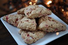 peppermint egg nog scones {never had this combo before!}