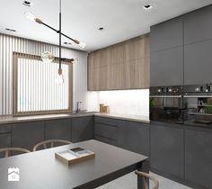 Projekt domu jednorodzinnego 7a - Kuchnia, styl nowoczesny - zdjęcie od BAGUA Pracownia Architektury Wnętrz